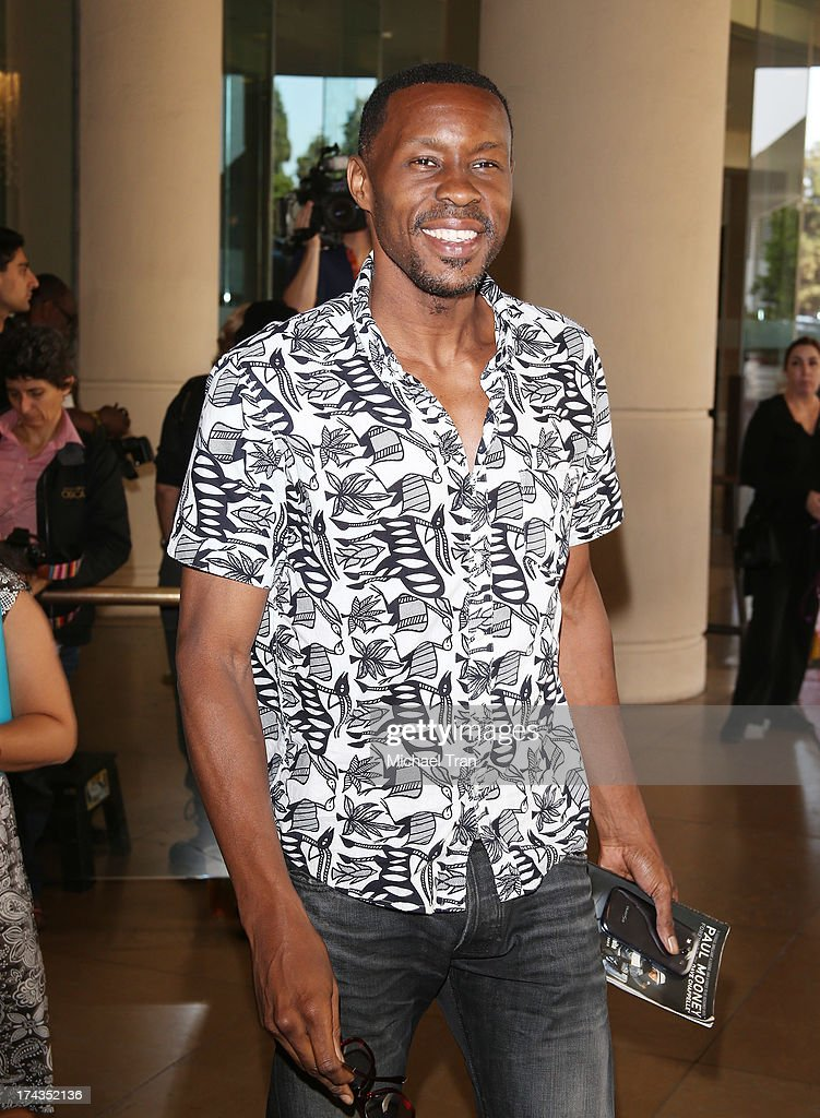 Wood Harris arrives at the Television Critic Association's Summer press tour - Hallmark Channel & Hallmark Movie Channel event held at The Beverly Hilton Hotel on July 24, 2013 in Beverly Hills, California.