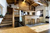 wood kitchen in modern style