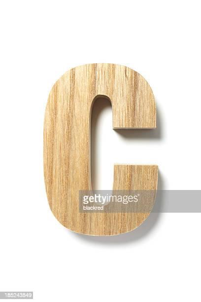 Wood Letter C