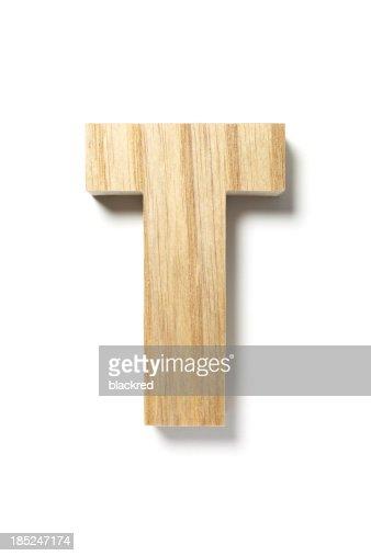 Wood Letter T