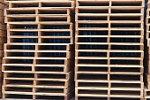 wood pallets waiting for sale