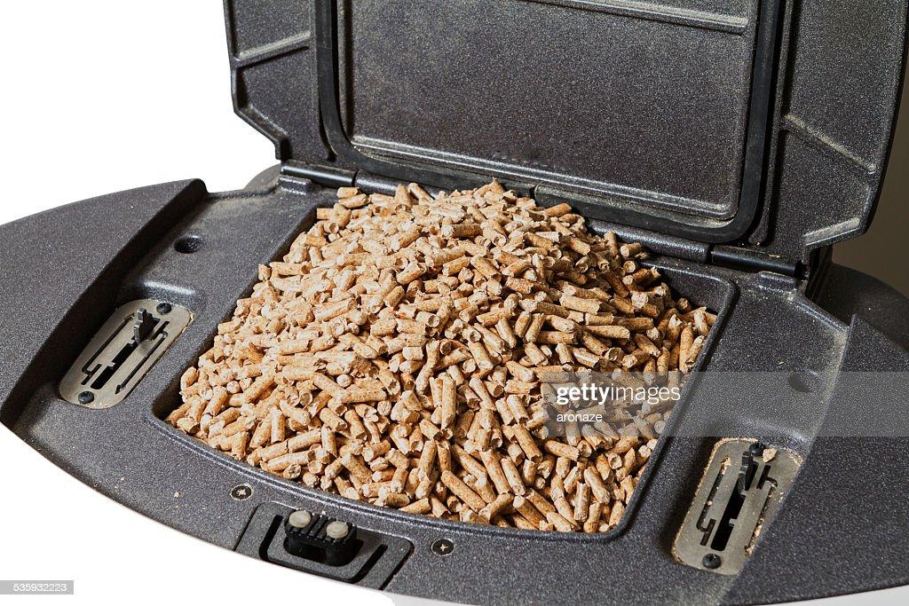 wood pellets : Stock Photo