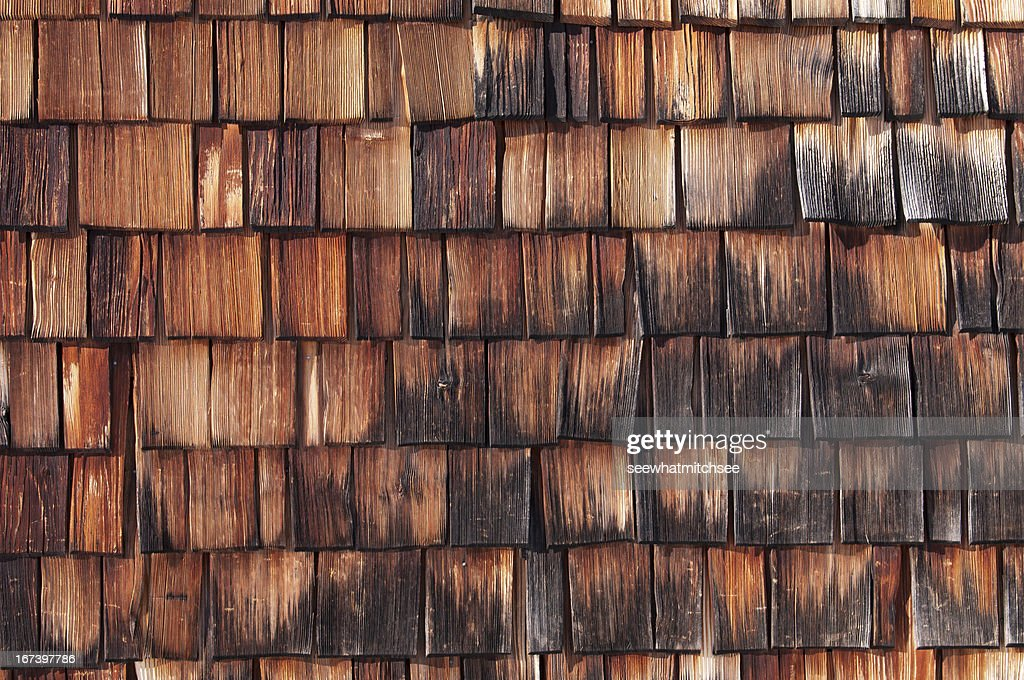 Wood shingle : Stockfoto