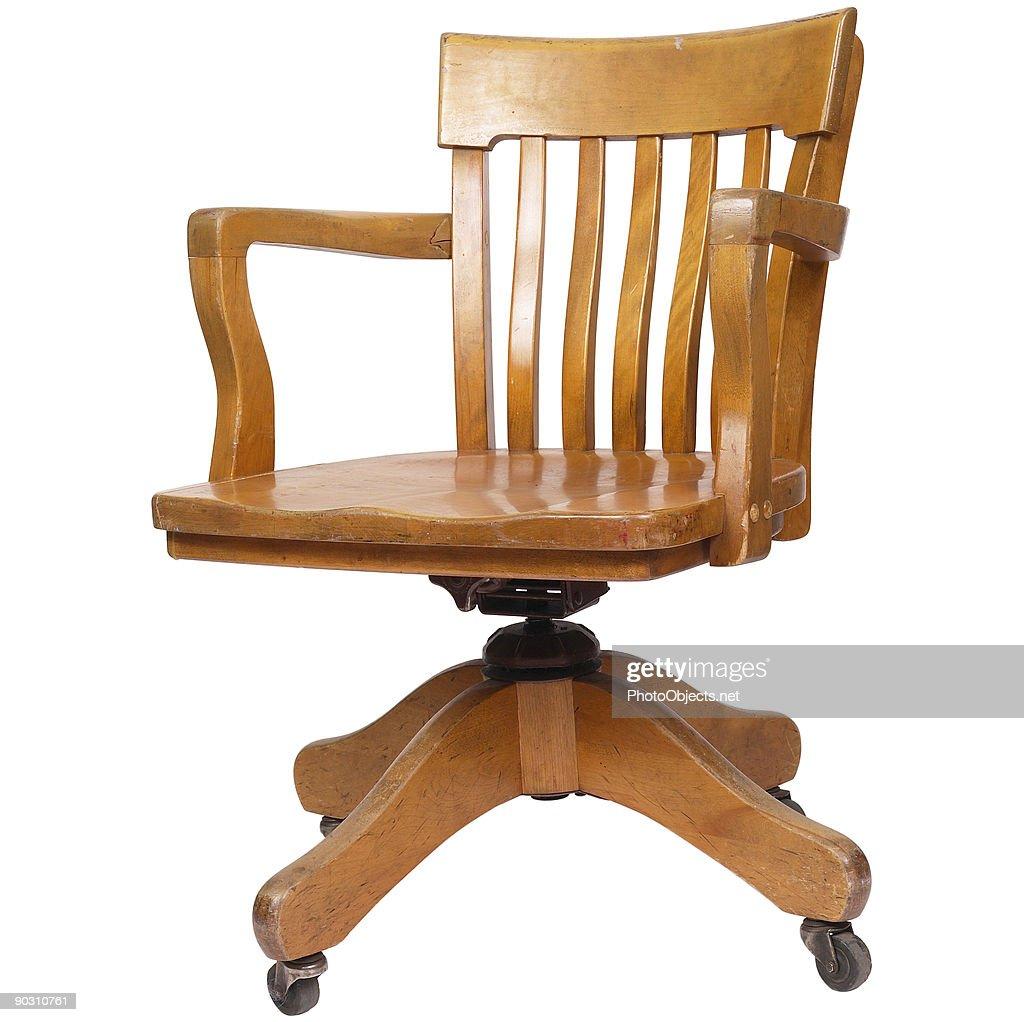 Wood Swivel Chair Stock Photo Thinkstock