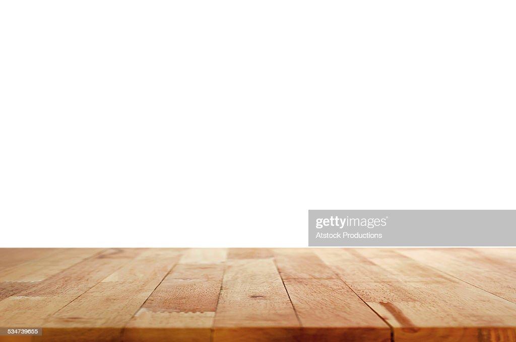 Wood Table Top On White Background Stock Photo Thinkstock