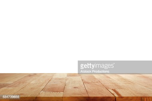 Kitchen Table Top Background wood table top on white background stock photo | thinkstock