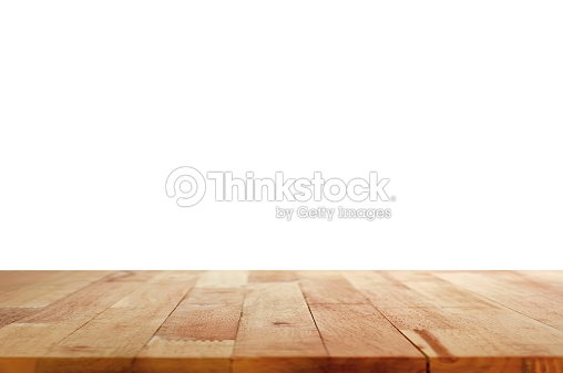 Wood table top on white background   Stock Photo. Wood Table Top On White Background Stock Photo   Thinkstock