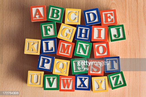 Toy Names A Z : Wood toy alphabet blocks in alphabetical order a to z