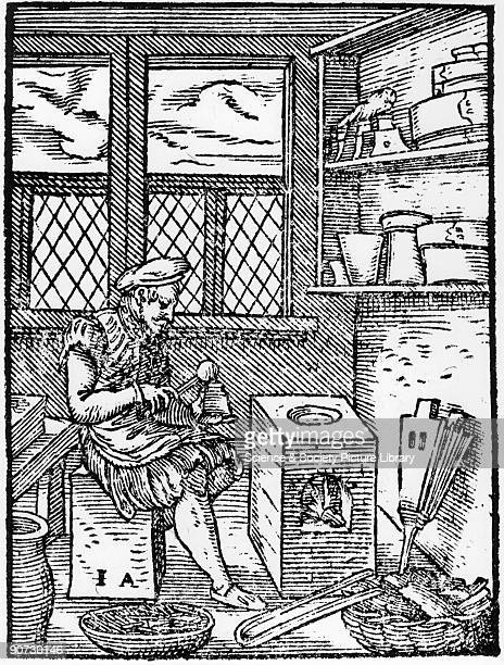 Woodcut illustration by Jost Amman from 'De Omnibus Illiberalibus Siue Mechanicis Artibus' by Hartmann Schopper published in Germany 1574 One of 133...