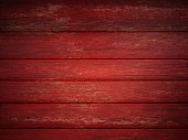 red wooden textured background.