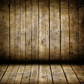 Very old dark brown wooden planks background