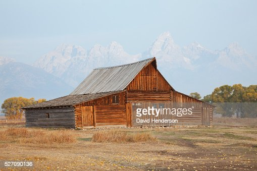 Wooden barn, Wyoming, USA : Foto stock