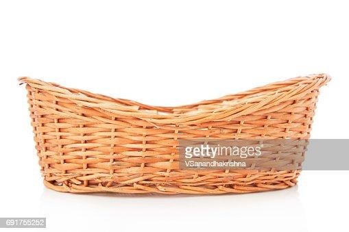 Wooden basket : Stock Photo