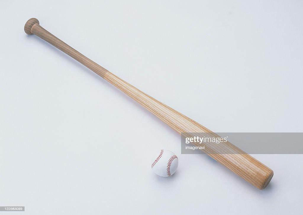 Wooden Bat and Hard Ball