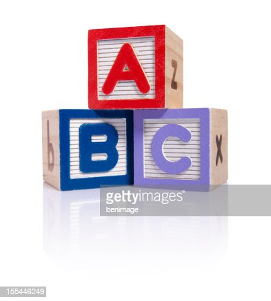 ABC wooden blocks cube (clipping paths)