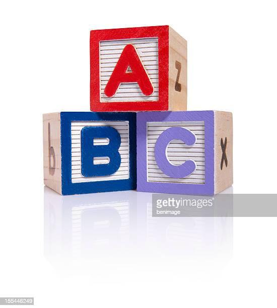 Blocs ABC en bois cube (Tracés de détourage