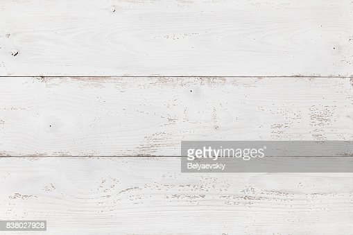 Wooden Board Painted White : Stock Photo