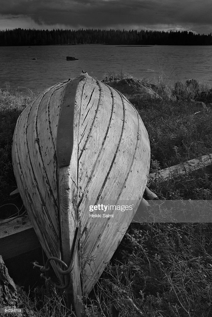 Wooden boat : Stock Photo