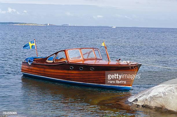 A wooden boat Stockholm archipelago Sweden.