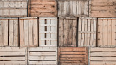 wall made by wooden boxes