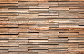 Wooden bricks slate wall texture background