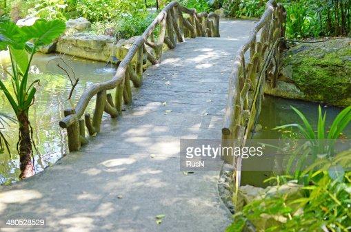 wooden bridge : Stock Photo