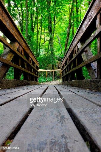 Puente de madera : Foto de stock