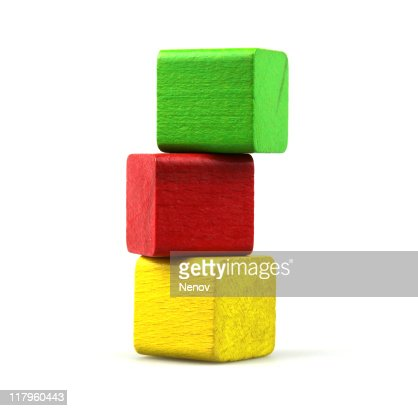 Wooden building blocks : Stock Photo