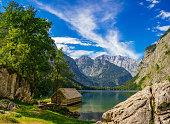 Obersee lake, Berchtesgadener Land, Bavaria