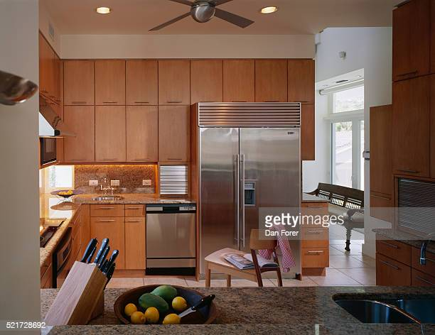 Wooden Cabinets in Contemporary Kitchen