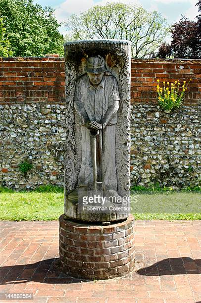 Wooden Carving of Gardener Greys Court England