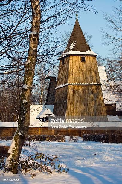 Wooden church in Katowice, Poland.
