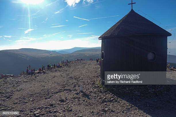 Wooden Church of St Nicholas on the top of Sniezka mountain in the Polish portion of the mountain