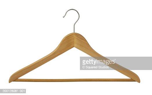 Wooden clothes hanger : Bildbanksbilder