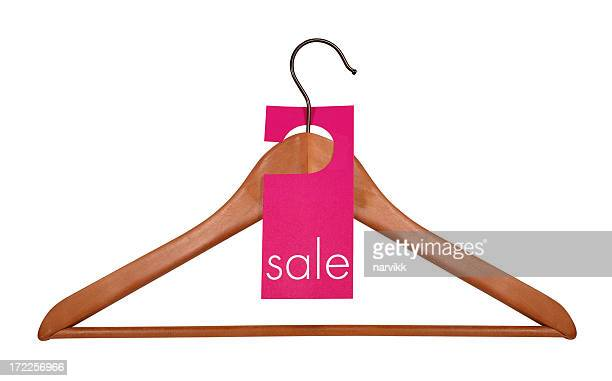 Wooden Coat Hanger & Sale Tag, path included