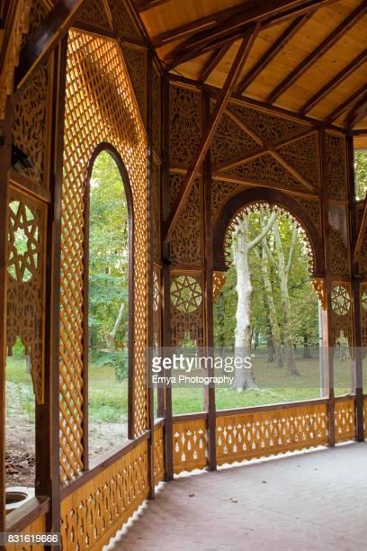 Wooden colonnade from Buzias, Timis, Romania