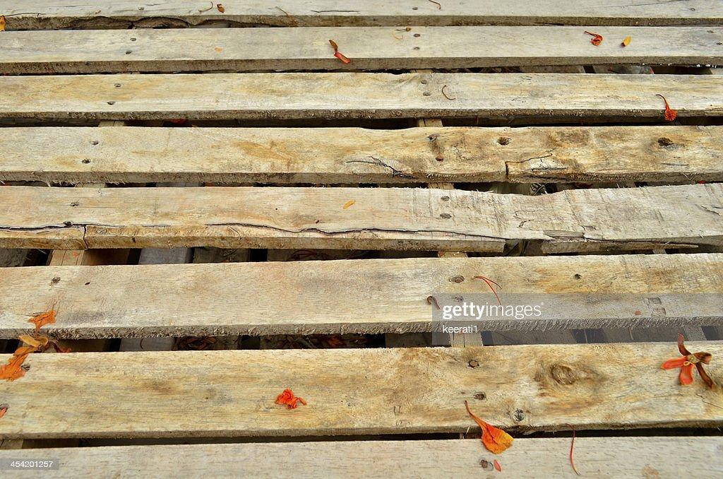 Caixa de madeira Velha de fundo, antigo pranchas de Madeira : Foto de stock