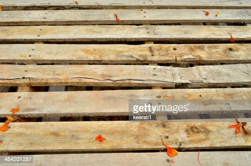 Wooden crate background, antique old wood planks : Stock Photo