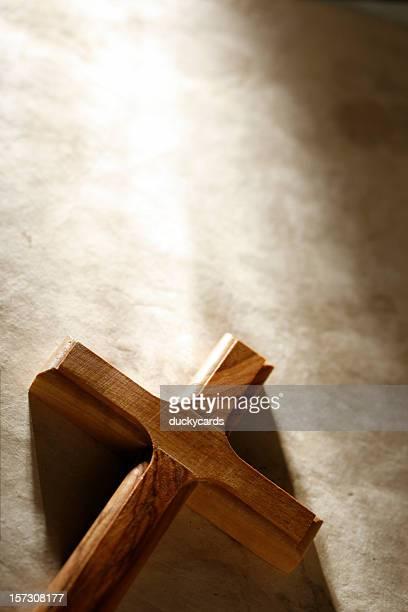Croix en bois avec espace texte
