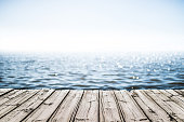 wooden deck by the sea