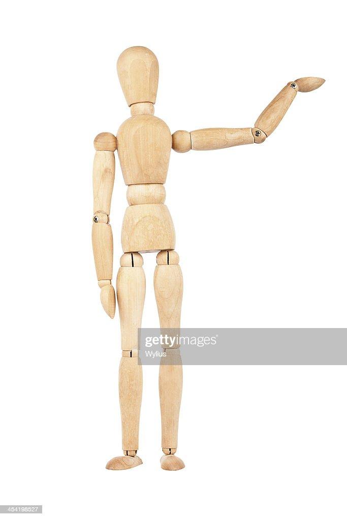 Simulación de madera con aumento de la mano : Foto de stock