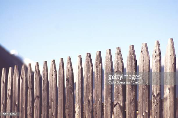Wooden Fence Against Sky