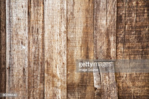 A wooden fence : Stock Photo