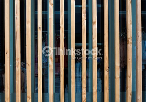 Wooden Fin Facade Stock Photo Thinkstock