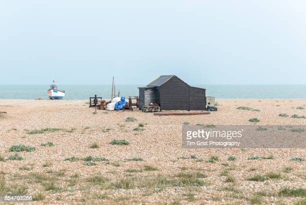 Wooden Fishing Hut and Boat, Dungeness