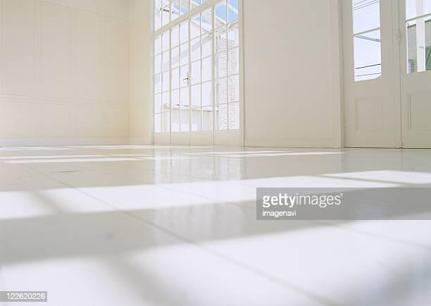 Wooden floor and sunlight