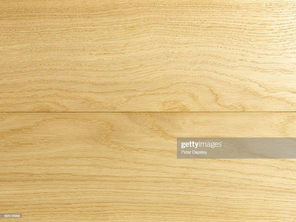 Wooden floor boards.