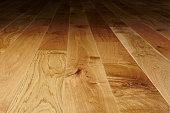 Studio shot of a wooden floor.