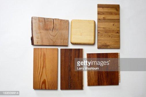 Wooden floor samples