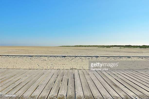 Wooden Floorboards on Beach Path